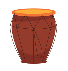 national african tom-tom drum made of wood vector image