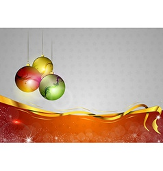 christmas background two color red balls vector image