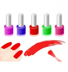 manicure vector image