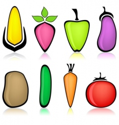Cartoon vegetable vector