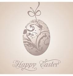 Easter paschal grunge egg vector image