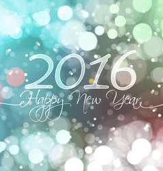 Happy new year 2016 on bokeh light background vector