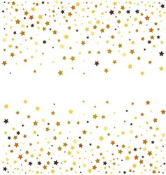 Gold glitter stars on white background vector