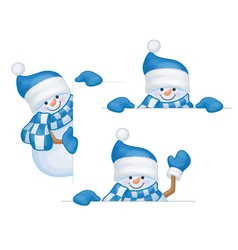 snowmen frame vector image