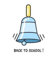 Back to school logo with a bell vector