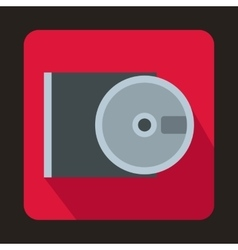 Dvd drive open icon in flat style vector