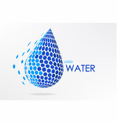 abstract logo water design vector image vector image