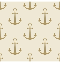 Anchor vintage pattern sea naval background symbol vector image