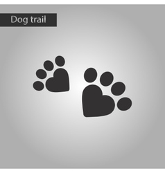 Black and white style icon cat tracks vector