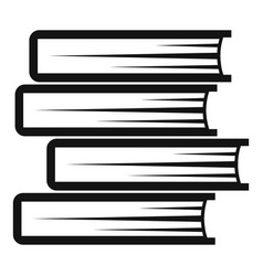 book student icon simple black style vector image