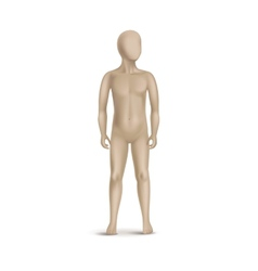 Child Mannequin Isolated on White vector image vector image