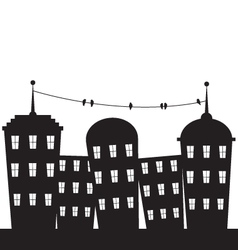 city black and white vector image vector image