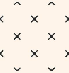 Cross seamless pattern x pattern vector