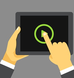 Digital tablet device vector