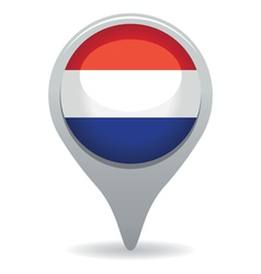 dutch flag pointer vector image