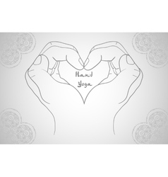 Elegant hand-drawn mudra vector