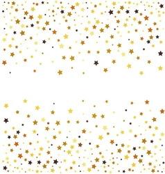 Gold glitter stars on white background vector image vector image