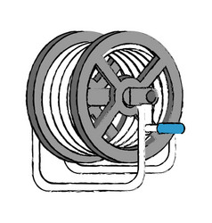 Hose reel icon vector