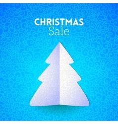 Merry christmas doodle seamless pattern fir tree vector