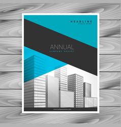 minimal blue business brochure flyer design a4 vector image vector image