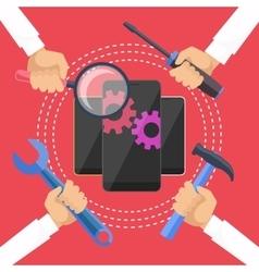 Mobile service vector