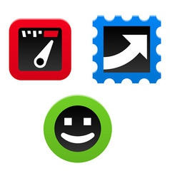 Performance Icon Set vector image vector image