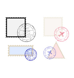 postal stamps vector image