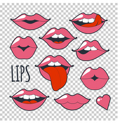set glamorous quirky icons vector image