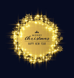 shiny sparkles and snowflakes for christmas vector image vector image