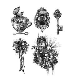sketch style vector image