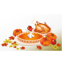 Thanksgiving day design for the decoration vector