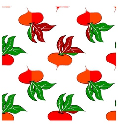 Pattern with colored turnip vector