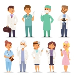 Different doctors charactsers set vector