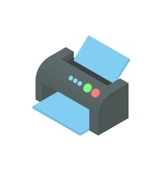 Printer icon cartoon style vector