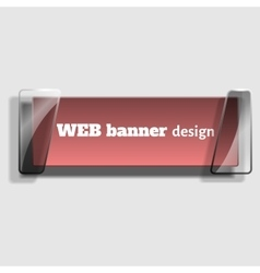 Abstract web banner in realistic style with glass vector