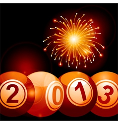 2013 bingo lottery balls and firework vector