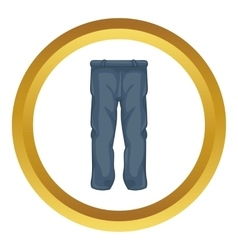 Men pants icon vector