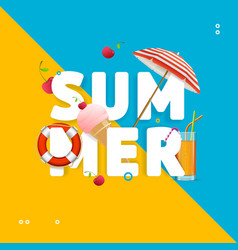 Summer concept card travel holiday vector