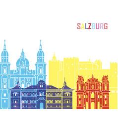 Salzburg skyline pop vector