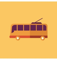 Trolley transportation flat icon vector