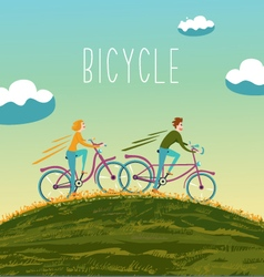 Summer bicycle vector