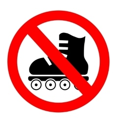 No roller skates icon vector
