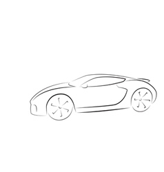 Sport car silhouette vector