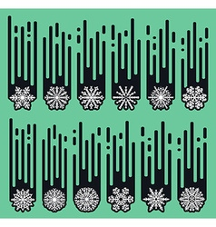 Set snowflakes of handmade snowflake flat winter vector