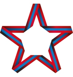 Star of color band vector