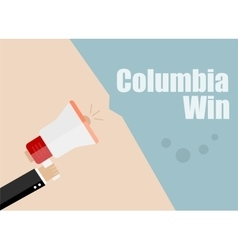 Columbia win flat design business vector