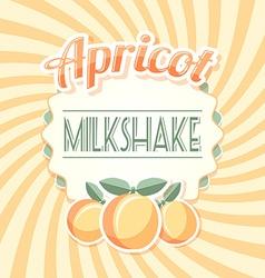 Apricot milkshake vector