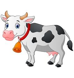 Cartoon Happy cartoon cow vector image vector image
