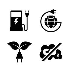 eco fuel simple related icons vector image vector image