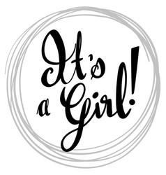 English phrase for its a girl vector